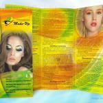 дизайн буклета школы макияжа