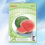 перекидной календарь с необычной календарной сеткой 2
